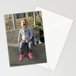 Kid and Friend Stationery Cards