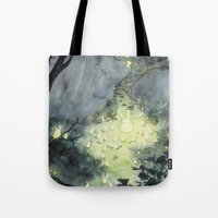 the lights Tote Bags featuring Lights by Paola Cocchetto