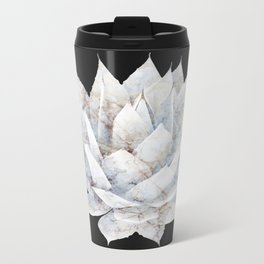 Agave White Marble Travel Mug