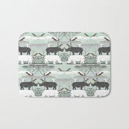 Rhino and friends do Lunch Bath Mat