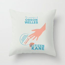 Citizen Kane, minimal movie poster, Orson Welles film, hollywood masterpiece, classic cinema Throw Pillow