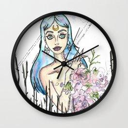 Freaky Flower girl Wall Clock