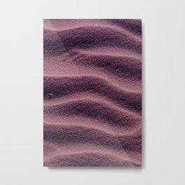 Sand_Ripples - Eggplant Metal Print