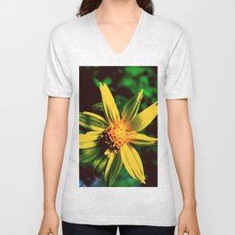 Vintage Yellow Flower Unisex V-Neck