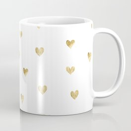 Gold Heart Coffee Mug