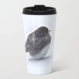 Brave Bird in a Blizzard Travel Mug