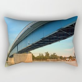 Bridge across the river Danube | architectural photography Rectangular Pillow