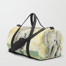 Colorful Baby Elephant Duffle Bag