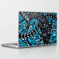 shark Laptop & iPad Skins featuring Shark by Lonica Photography & Poly Designs