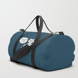 the wise cat - awake Duffle Bag