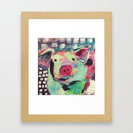 This little piggy is Wilbur Framed Art Print