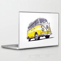 volkswagen Laptop & iPad Skins featuring Volkswagen T1  by BSJC Automotive Art