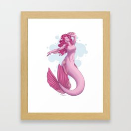 Mermare Pinkie Pie Framed Art Print