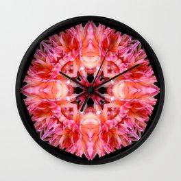 Pink Dahlias Wall Clock
