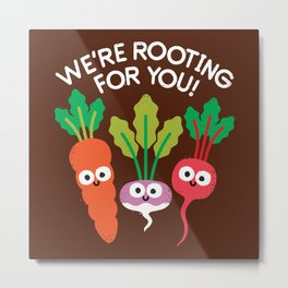 Motivegetable Speakers Metal Print
