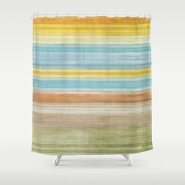 Colorbands Yellowstone Yellow Shower Curtain