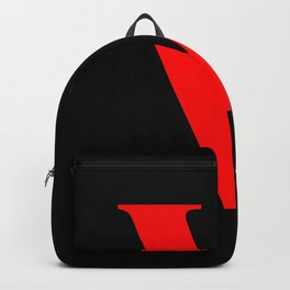 V MONOGRAM (RED & BLACK) Backpack