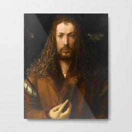 Self-Portrait at the Age of Twenty Eight by Albrecht Dürer Metal Print