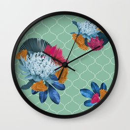 Waratah flower Wall Clock