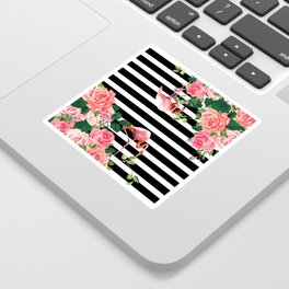 tropical flamingo Sticker