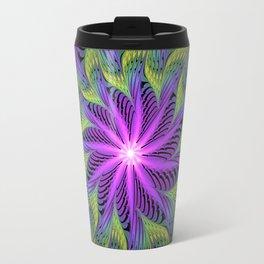 The Light from the Center, Fantasy Fractal Art Travel Mug