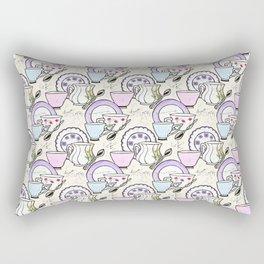 Afternoon Tea Set Rectangular Pillow