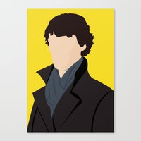 sherlock Canvas Prints featuring Sherlock by Jessica Slater Design & Illustration