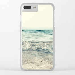 Vintage Waves Clear iPhone Case