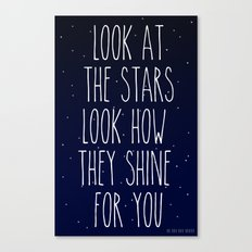 Look How They Shine For You Canvas Print