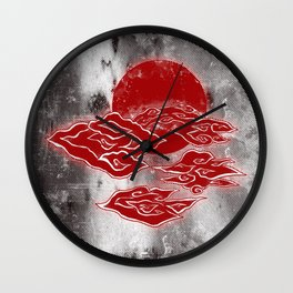 The Red Clouds Wall Clock
