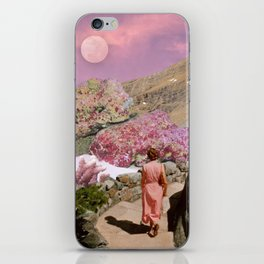 Path to pink moon iPhone Skin