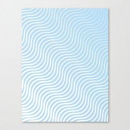 Whiskers Light Blue & White #285 Canvas Print