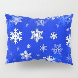 Light Blue Snowflakes Pillow Sham