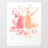 lungs Art Prints featuring lungs by divinerush