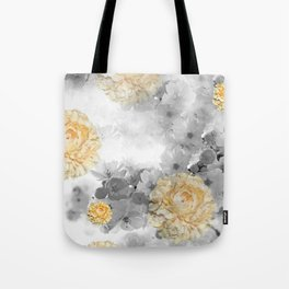 CHERRY BLOSSOMS AND YELLOW ROSES Tote Bag