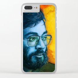 Asian Dude with Glasses Clear iPhone Case
