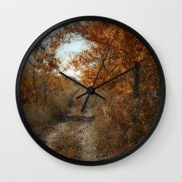 Autumn Trail Wall Clock