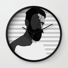 FULL BEARD BW Wall Clock