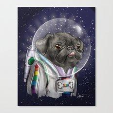 Cadet Sparkles Space Pug Canvas Print