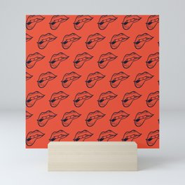 Licking Lips Mini Art Print