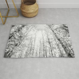 Black and white tree photography - Watercolor series #4 Rug