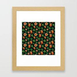 Lemon Love Orange Framed Art Print