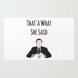The Office Michael Scott That's What She Said Rug