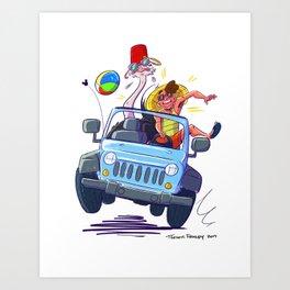 Ostrich Summer Art Print