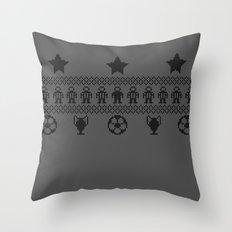 Nerdic (soccer pattern) Throw Pillow