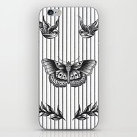 tattoos iPhone & iPod Skins featuring Harry's tattoos by Cécile Pellerin