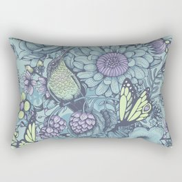 Beauty (eye of the beholder) - aqua version Rectangular Pillow