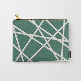 Emerald Lines Carry-All Pouch