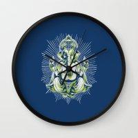ganesh Wall Clocks featuring Ganesh by Scalifornian