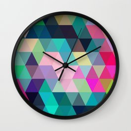 Colorful, Triangular  low poly, mosaic pattern background, Vector polygonal illustration graphic, Cr Wall Clock